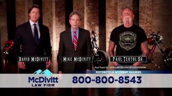 McDivitt Law Firm, P.C. TV Spot, 'Motorcycle Crash' Featuring Paul Teutul Sr.