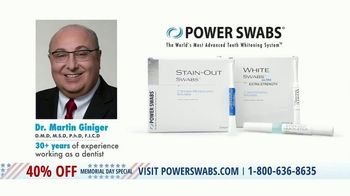 Power Swabs Memorial Day Special TV Spot, 'Clinically Studied' - Thumbnail 2