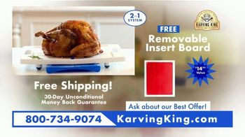 Karving King Dripless Cutting Board 2 in 1 System TV Spot, 'The Perfect Meat' - Thumbnail 10