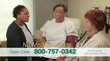 Open Care Insurance Services Final Expense Life Insurance TV Spot, 'At Peace: $30,000'