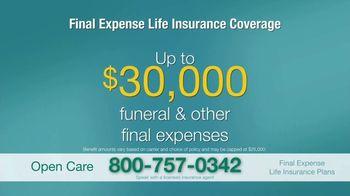 Open Care Insurance Services Final Expense Life Insurance TV Spot, 'At Peace: $30,000' - Thumbnail 10