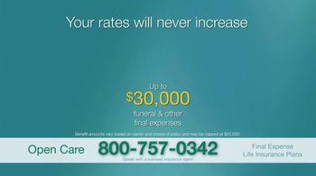 Open Care Insurance Services Final Expense Life Insurance TV Spot, 'At Peace: $30,000' - Thumbnail 6