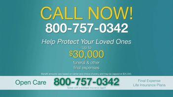 Open Care Insurance Services Final Expense Life Insurance TV Spot, 'At Peace: $30,000' - Thumbnail 7