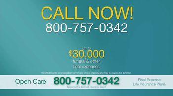 Open Care Insurance Services Final Expense Life Insurance TV Spot, 'At Peace: $30,000' - Thumbnail 8