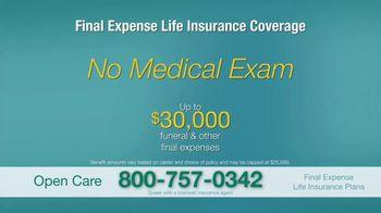Open Care Insurance Services Final Expense Life Insurance TV Spot, 'At Peace: $30,000' - Thumbnail 9