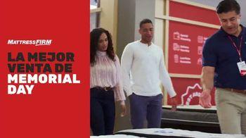 Mattress Firm Mejor Venta de Memorial Day TV Spot, 'Cama King a precio Queen' [Spanish]
