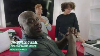 Papa John's Epic Stuffed Crust TV Spot, 'The New Guy' Featuring Shaquille O'Neal