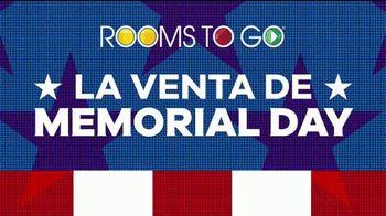 Rooms to Go Venta de Memorial Day TV Spot, 'Secciónal, sala y habitaciones' [Spanish] - Thumbnail 2