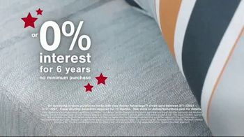 Ashley HomeStore Memorial Day Sale TV Spot, 'Up to 30% Off and 0% Interest, No Minimum Purchase' - Thumbnail 6