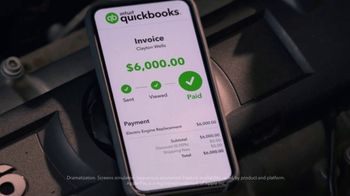QuickBooks TV Spot, 'Payments Go Big: Face Mechanic and Friends' Song by Meghan Trainor - Thumbnail 3