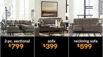 Ashley HomeStore 40% Off - 60% Off Sale TV Spot, 'Lowest Prices of the Season: Sofas, Sectionals, Mattresses' - Thumbnail 3
