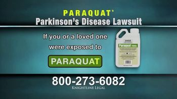 Knightline Legal TV Spot, \'Parkinson\'s Disease Diagnosis: Paraquat\'