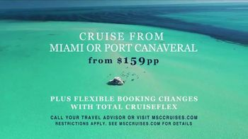 MSC Cruises TV Spot, 'Miami or Port Canaveral: $159' Song by Calvin Harris - Thumbnail 9