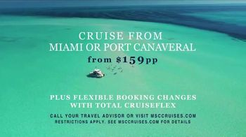 MSC Cruises TV Spot, 'Miami or Port Canaveral: $159' Song by Calvin Harris - Thumbnail 8
