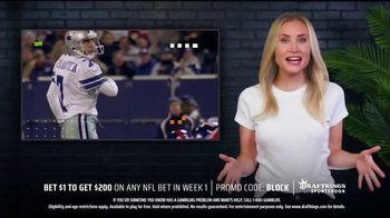 DraftKings Sportsbook TV Spot, 'NFL Week One: Bet $1, Get $200' Featuring Martin Gramatica - Thumbnail 2