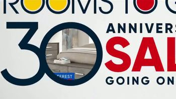 Rooms to Go 30th Anniversary Sale TV Spot, 'Bedroom Set with Storage Footboard: $799' Song by Junior Senior - Thumbnail 10