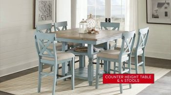 Rooms to Go 30th Anniversary Sale TV Spot, 'Five-Piece Counter Height Table and Stools' Song by Junior Senior - Thumbnail 5