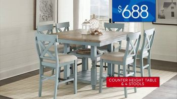 Rooms to Go 30th Anniversary Sale TV Spot, 'Five-Piece Counter Height Table and Stools' Song by Junior Senior - Thumbnail 6
