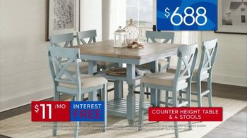 Rooms to Go 30th Anniversary Sale TV Spot, 'Five-Piece Counter Height Table and Stools' Song by Junior Senior - Thumbnail 7