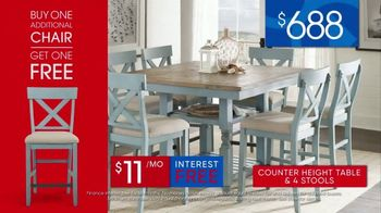 Rooms to Go 30th Anniversary Sale TV Spot, 'Five-Piece Counter Height Table and Stools' Song by Junior Senior - Thumbnail 8
