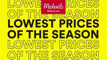 Michaels Lowest Prices of the Season Sale TV Spot, '70% Off Makers Faves' - Thumbnail 1