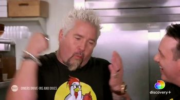 Discovery+ TV Spot, 'Diners Drive-Ins and Dives' - Thumbnail 1