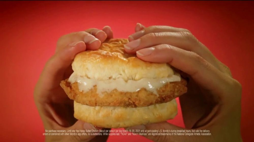 Wendy's Honey Butter Chicken Biscuit TV Commercial, 'NCAA March Madness: Free'