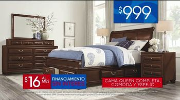 Rooms to Go Venta del 30 Aniversario TV Spot, 'Dormitorio con almacenamiento' canción de Junior Senior [Spanish] - Thumbnail 5