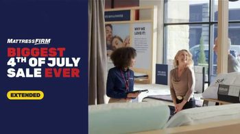 Mattress Firm 4th of July Sale TV Spot, 'Extended: Free Adjustable Base'