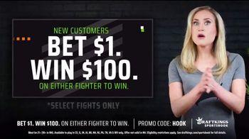 DraftKings Sportsbook TV Spot, 'UFC 260: Bet $1, Win $100'