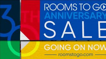 Rooms to Go 30th Anniversary Sale TV Spot, 'Stylish East Side Four Piece Living Room Set' Song by Junior Senior - Thumbnail 10