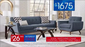 Rooms to Go 30th Anniversary Sale TV Spot, 'Stylish East Side Four Piece Living Room Set' Song by Junior Senior - Thumbnail 8