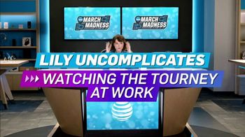 AT&T Wireless TV Spot, 'Lily Uncomplicates: Watching the Tourney at Work' - 10 commercial airings
