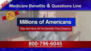 Medicare Benefits & Questions Line TV Spot, '2021 Medicare Benefits: Millions of Americans' - Thumbnail 1