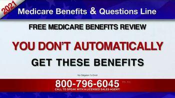 Medicare Benefits & Questions Line TV Spot, '2021 Medicare Benefits: Millions of Americans' - Thumbnail 6