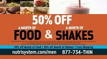 Nutrisystem for Men 50/50 Deal TV Spot, 'Real Food: 50% Off Food & Shakes' - Thumbnail 2