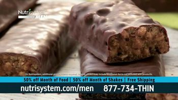 Nutrisystem for Men 50/50 Deal TV Spot, 'Real Food: 50% Off Food & Shakes' - Thumbnail 3