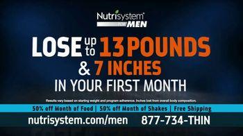 Nutrisystem for Men 50/50 Deal TV Spot, 'Real Food: 50% Off Food & Shakes' - Thumbnail 4