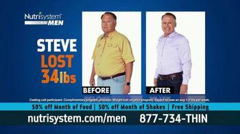 Nutrisystem for Men 50/50 Deal TV Spot, 'Real Food: 50% Off Food & Shakes' - Thumbnail 7