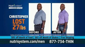 Nutrisystem for Men 50/50 Deal TV Spot, 'Real Food: 50% Off Food & Shakes' - Thumbnail 8