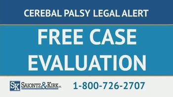 Saiontz & Kirk, P.A. TV Spot, 'Children With Cerebal Palsy'