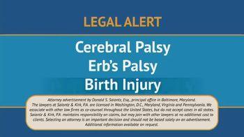 Saiontz & Kirk, P.A. TV Spot, 'Children With Cerebal Palsy' - Thumbnail 1