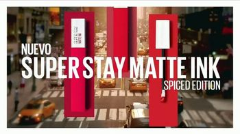 Maybelline New York SuperStay Matte Ink Spiced Edition TV Spot, 'Intensificar' [Spanish] - Thumbnail 2