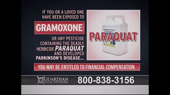 Guardian Legal Network TV Spot, \'Gramoxone and Paraquat Lawsuit\'