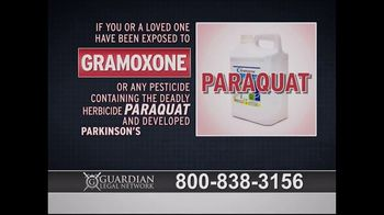 Guardian Legal Network TV Spot, 'Gramoxone and Paraquat Lawsuit' - Thumbnail 1