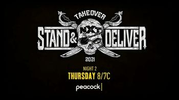 Peacock TV TV Spot, 'NXT Takeover: Stand & Deliver Night 2' - Thumbnail 8