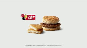 McDonald's $1 $2 $3 Dollar Menu TV Spot, 'Face the Day With Breakfast: Sausage Biscuit' - Thumbnail 7