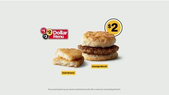 McDonald's $1 $2 $3 Dollar Menu TV Spot, 'Face the Day With Breakfast: Sausage Biscuit' - Thumbnail 9