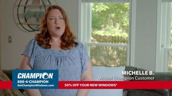 Champion Windows Hottest Sale of the Year TV Spot, 'Michelle: 50% Off Windows'