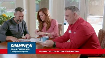 Champion Windows Hottest Sale of the Year TV Spot, 'Transform Your Home: 30% Off Siding'